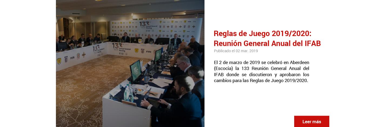Reglas de Juego 2019/2020: Reunión General Anual del IFAB